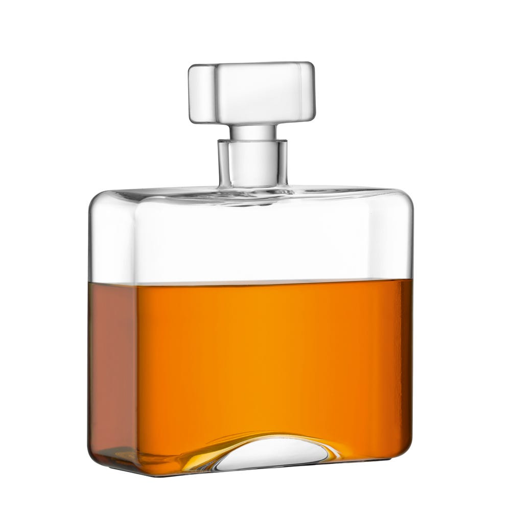 Cask Whisky Oblong Decanter 1L Clear