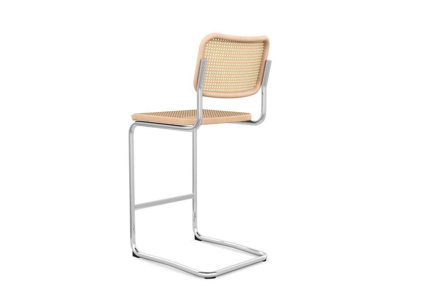 As shown: Cesca counter stool beech - Rear profile.