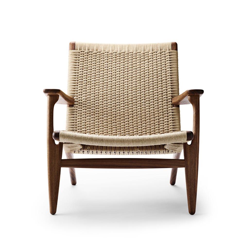 CH25 armchair Walnut oil / Natural cord