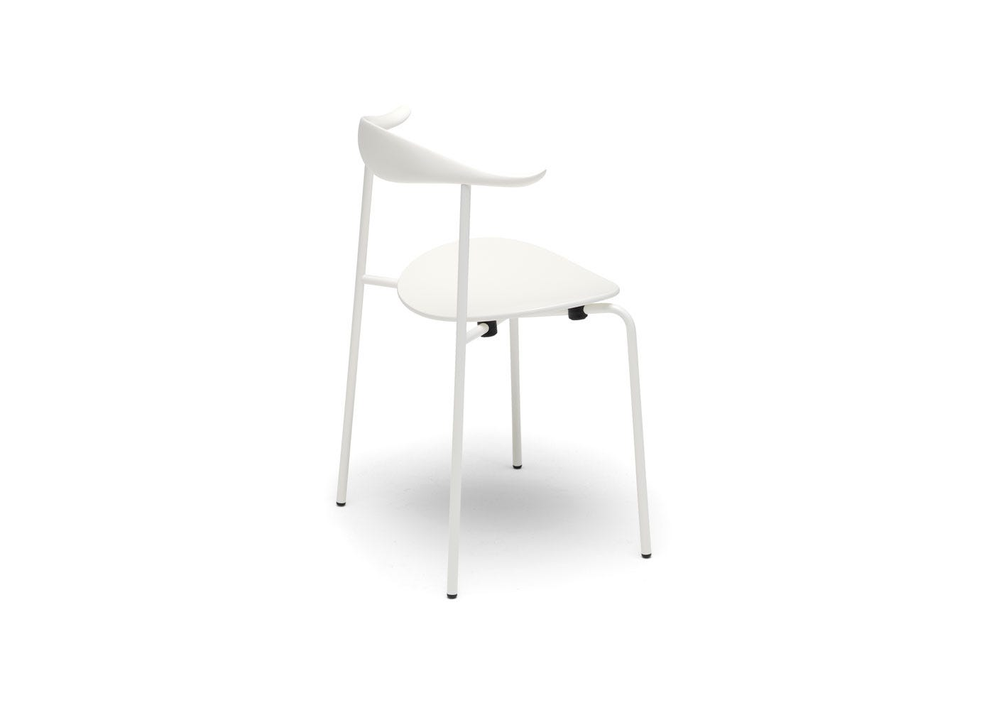 As Shown: CH88T Dining Chair White Beech White Frame