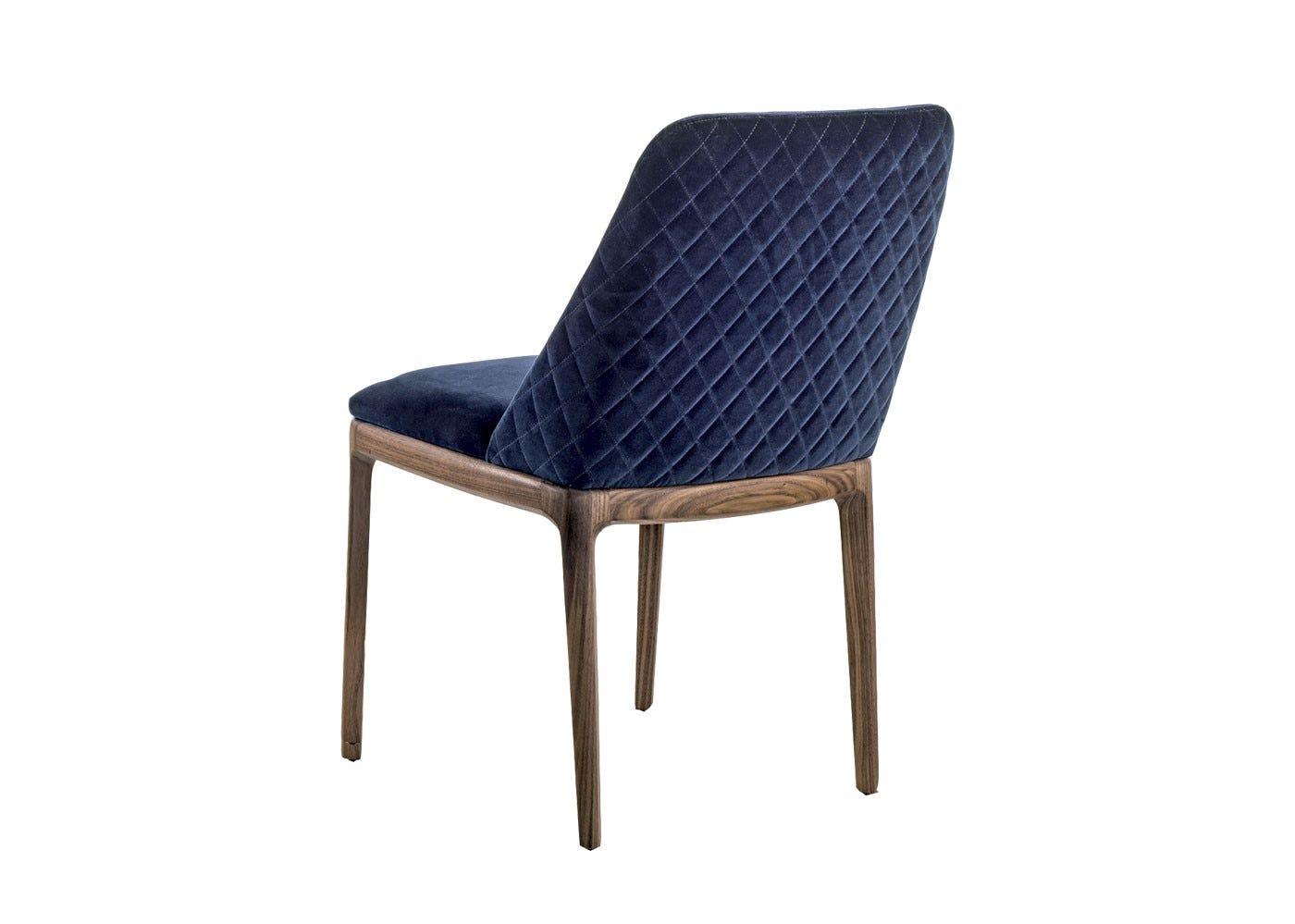 As Shown: Cloe Dining Chair in Velvet Harald 982 Back
