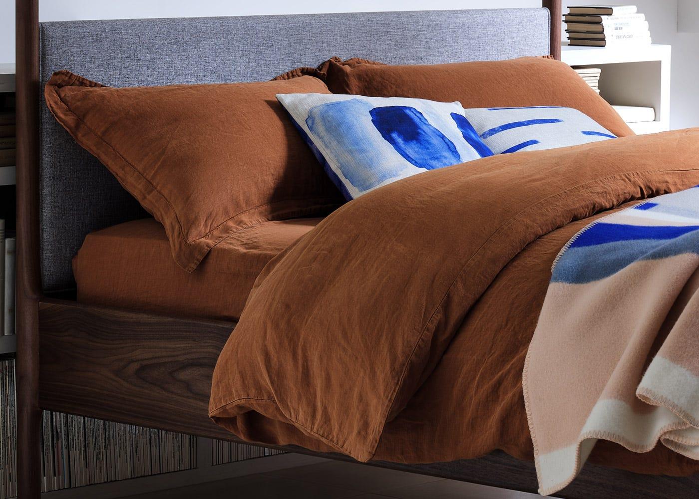 Washed Linen Bed Linen Cinnamon Heal S Uk
