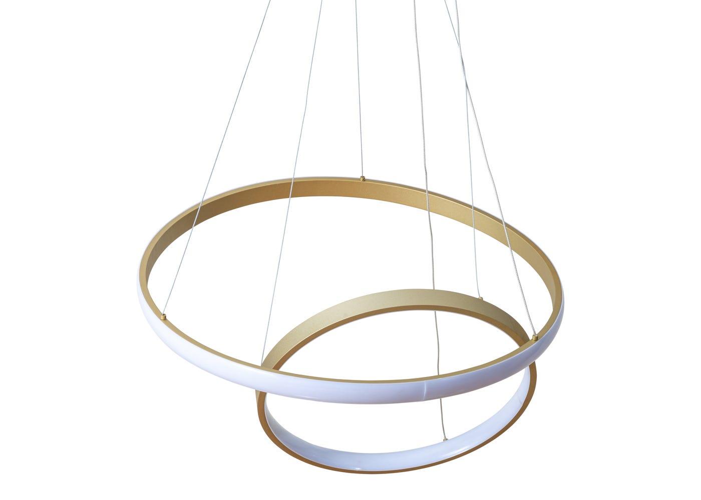 As shown: Circa LED pendant satin gold