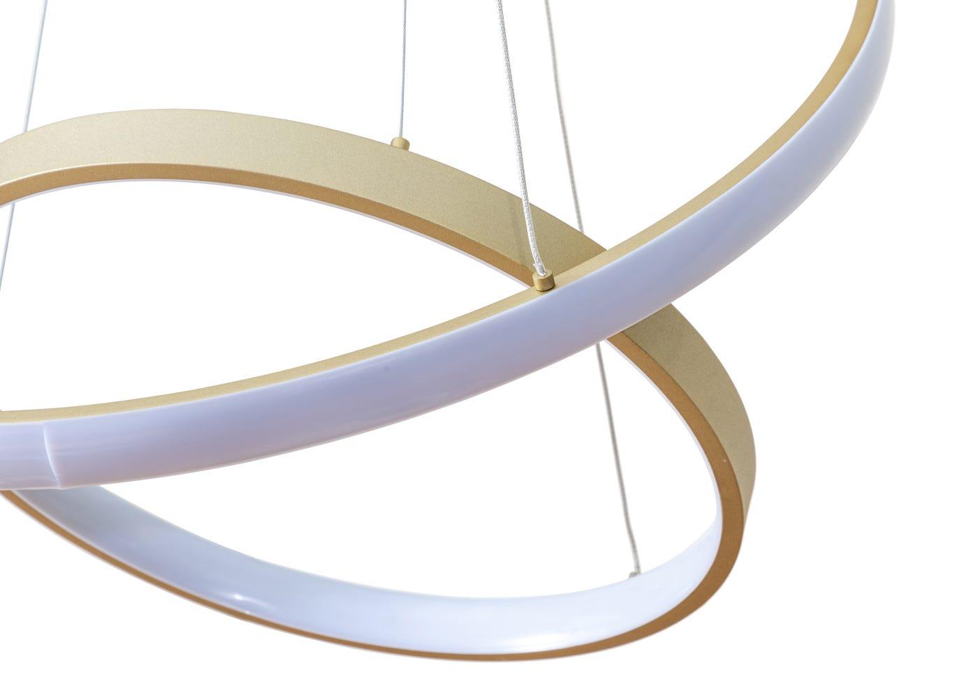 As shown: Circa's interlocking ring design.