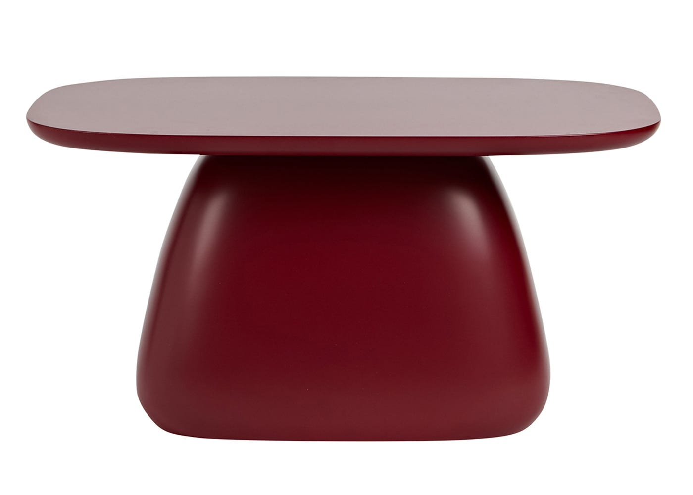 As shown: Cliff Coffee Table in tangerine