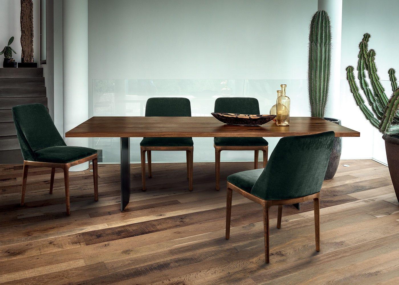 As Shown: Cloe dining chair in velvet.