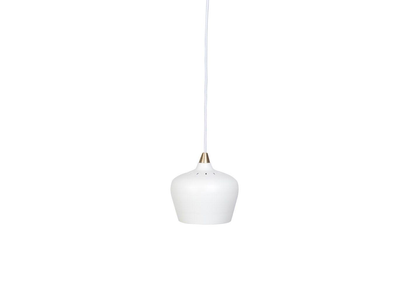 Cohen pendant brass tip white small