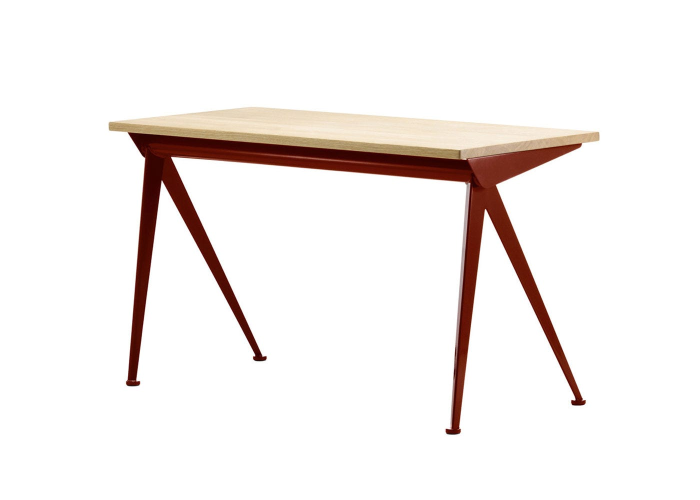 As Shown: Compass Direction Desk in Red