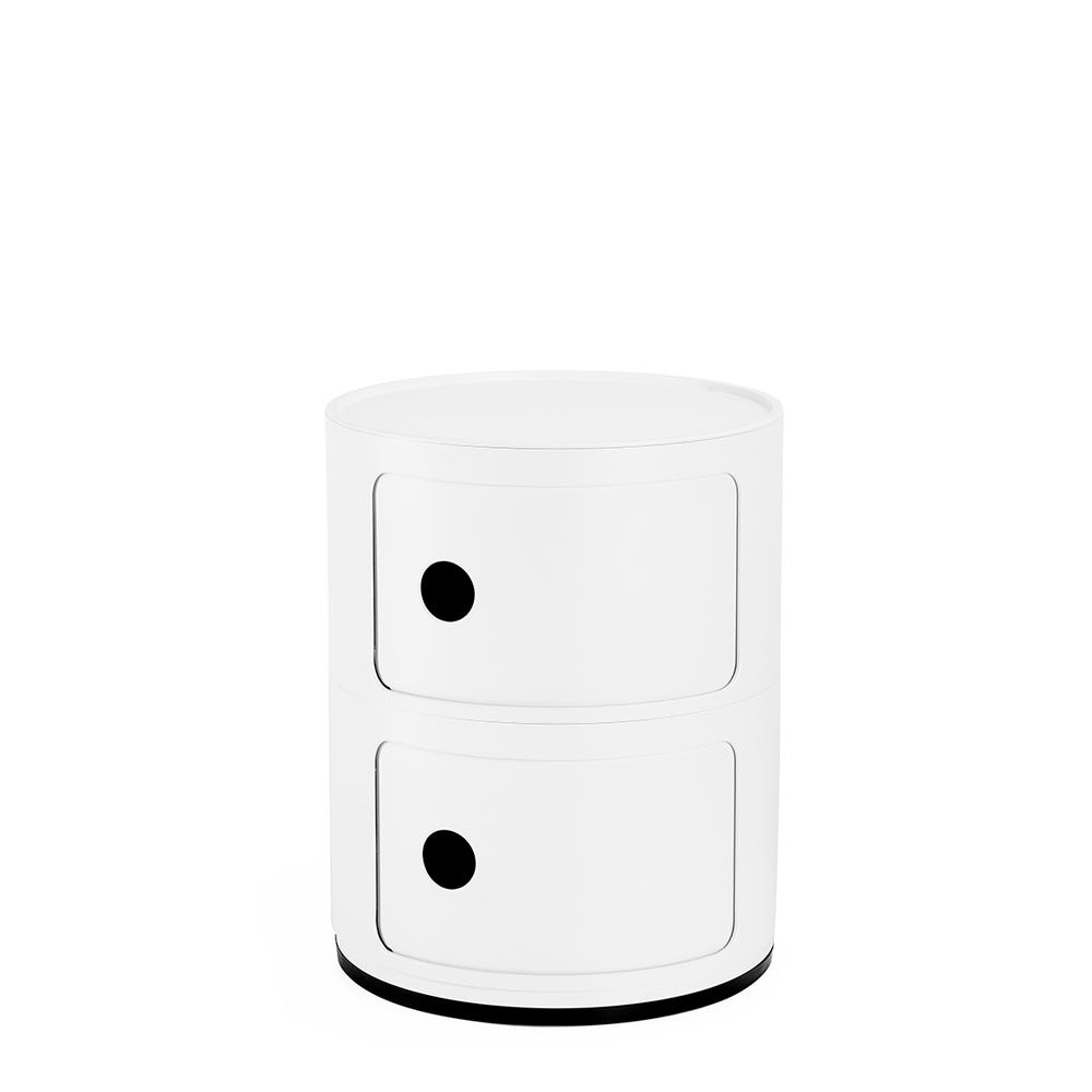 Componibili Cabinet 2 Elements Recycled Plastic Matt White
