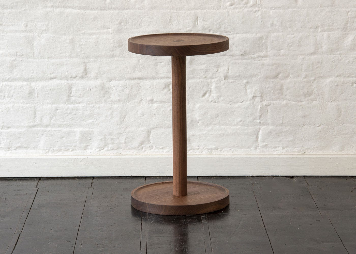 As shown: Cooper side table walnut