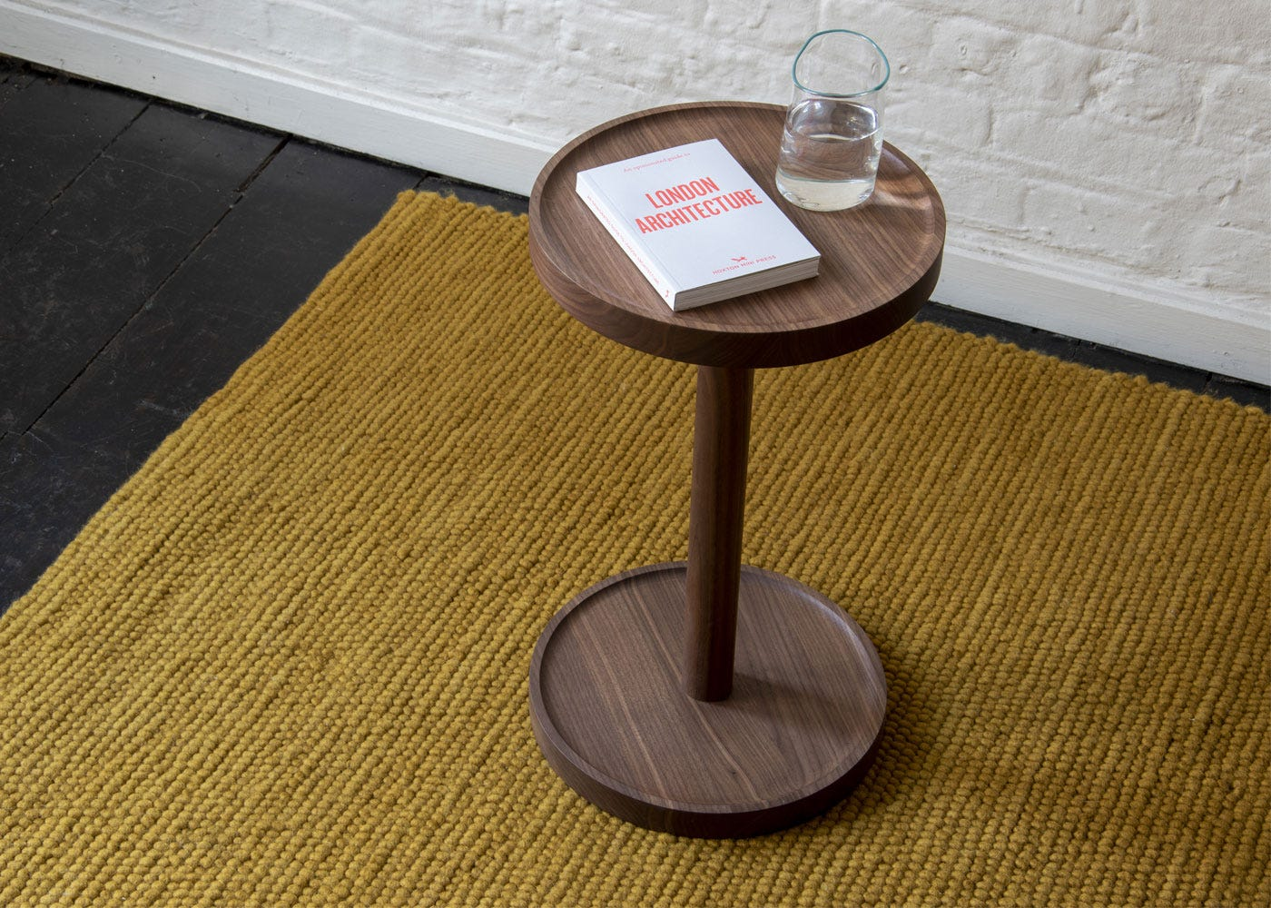 As shown: Cooper side table walnut - Top profile