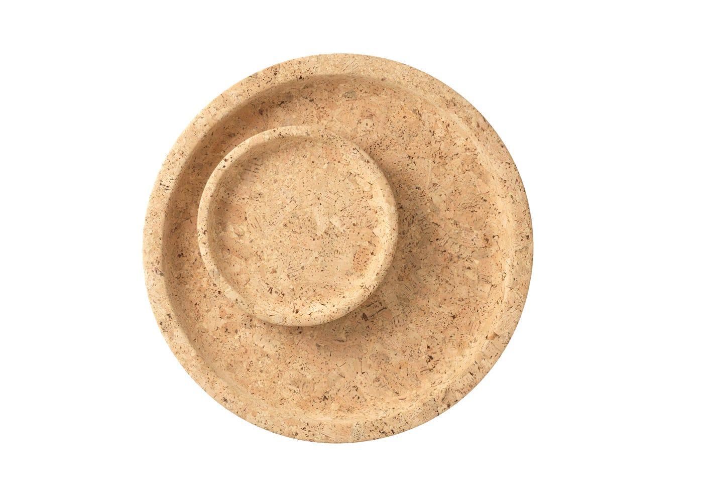 Cork bowls, large and medium