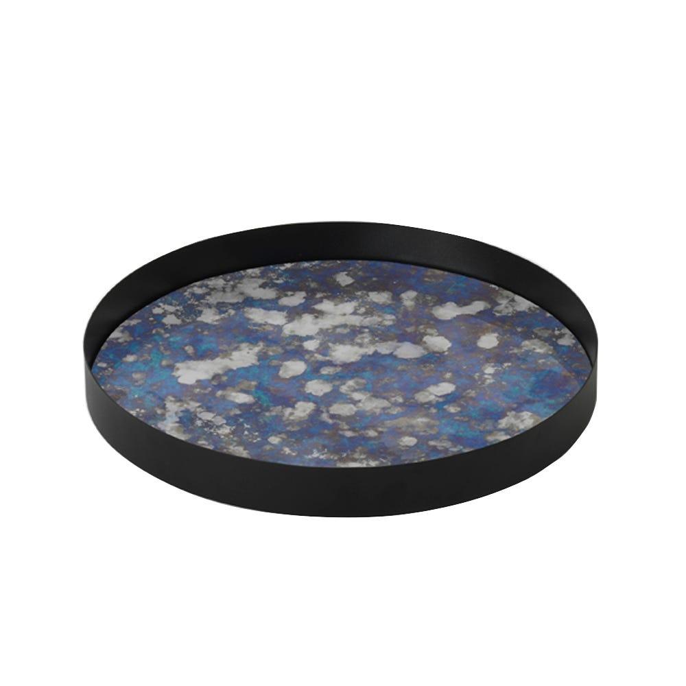 Coupled Tray Round Blue Large