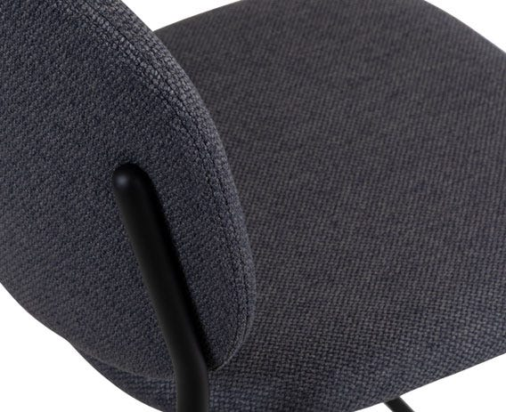Upholstered in hard-wearing fabric.