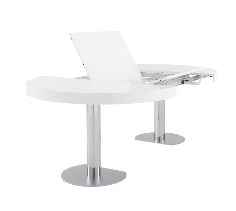 Ligne Roset Craft  Dining Table  Seater In White Lacquer - White lacquer dining table
