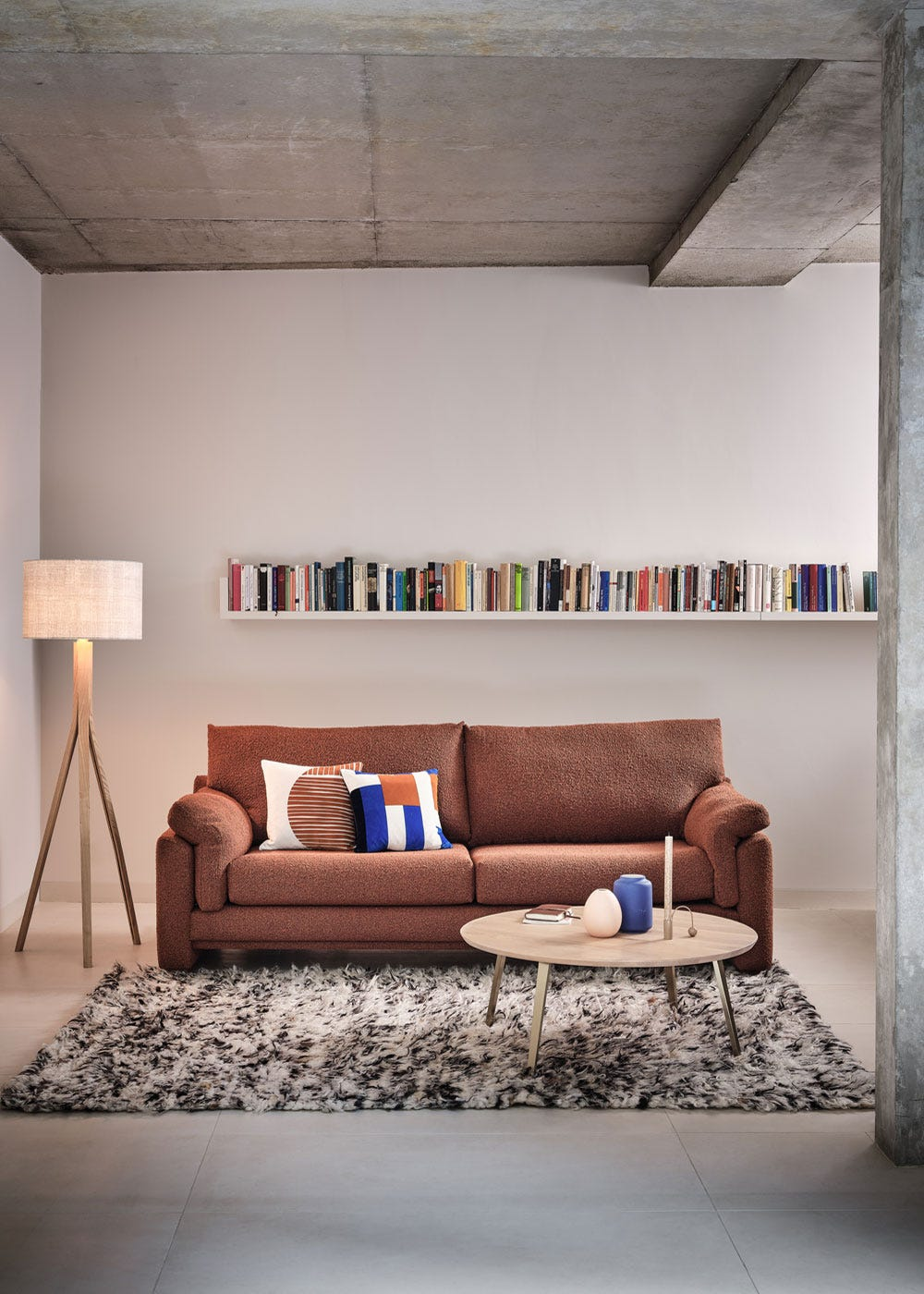 As shown: Crawford coffee table, Paris sofa, Baxter floor lamp.