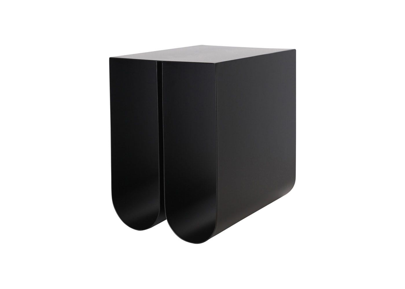 As Shown: Curved Side Table in Black
