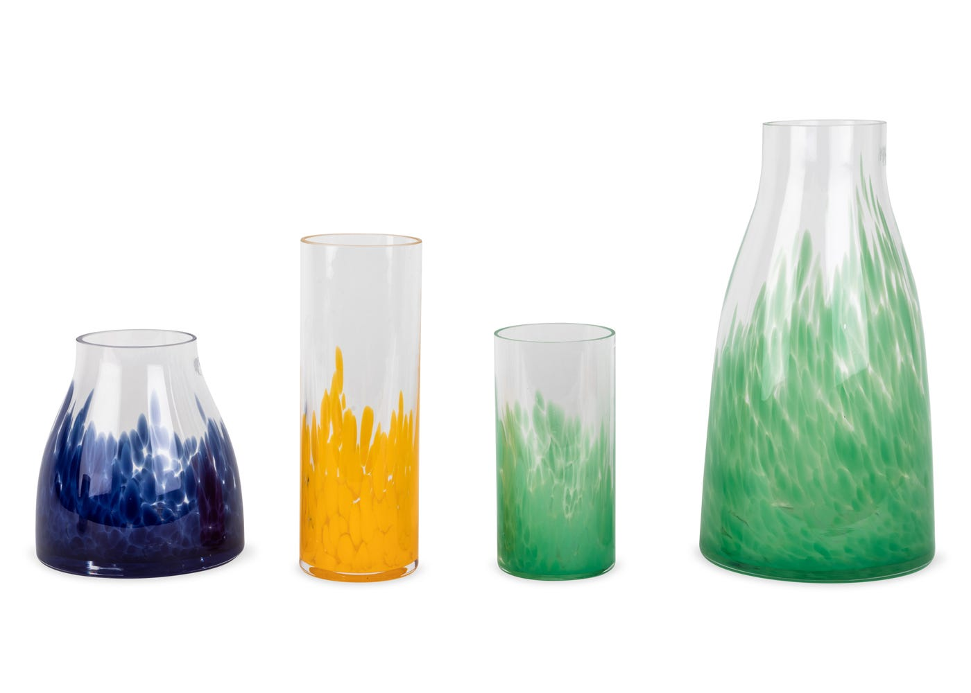 the Dapple range of vases and candleholders