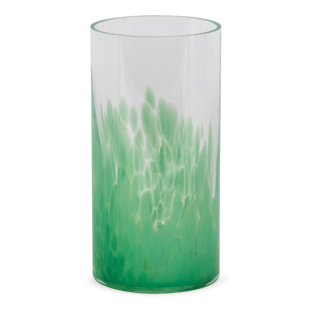 Dapple Candle Holder or Vase Green Small