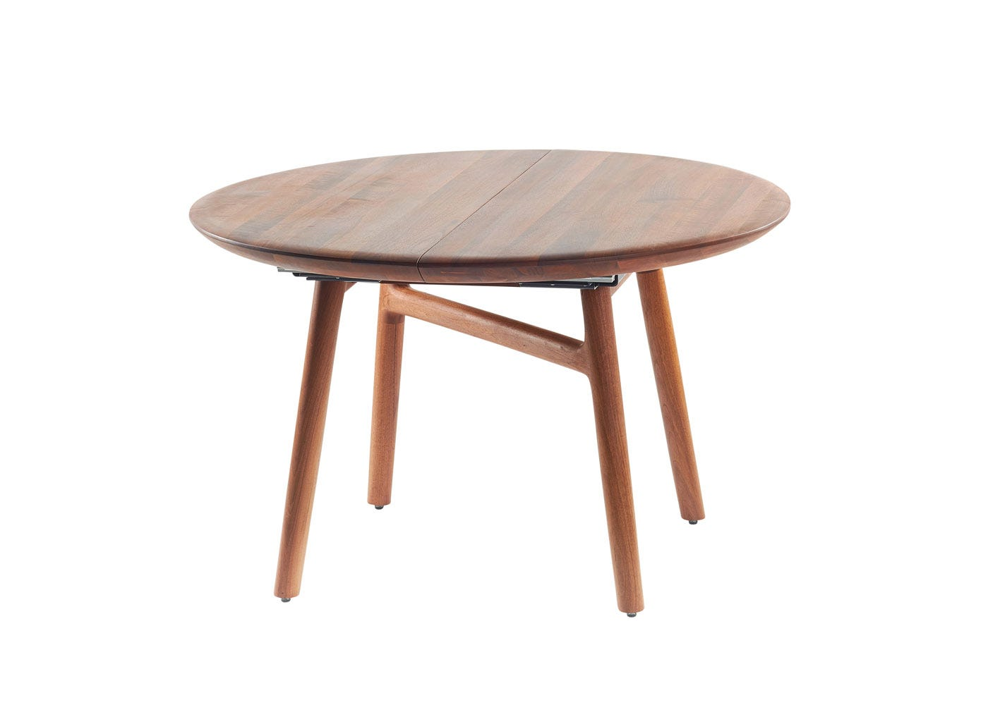 As Shown: Dashing Extending Dining Table Walnut