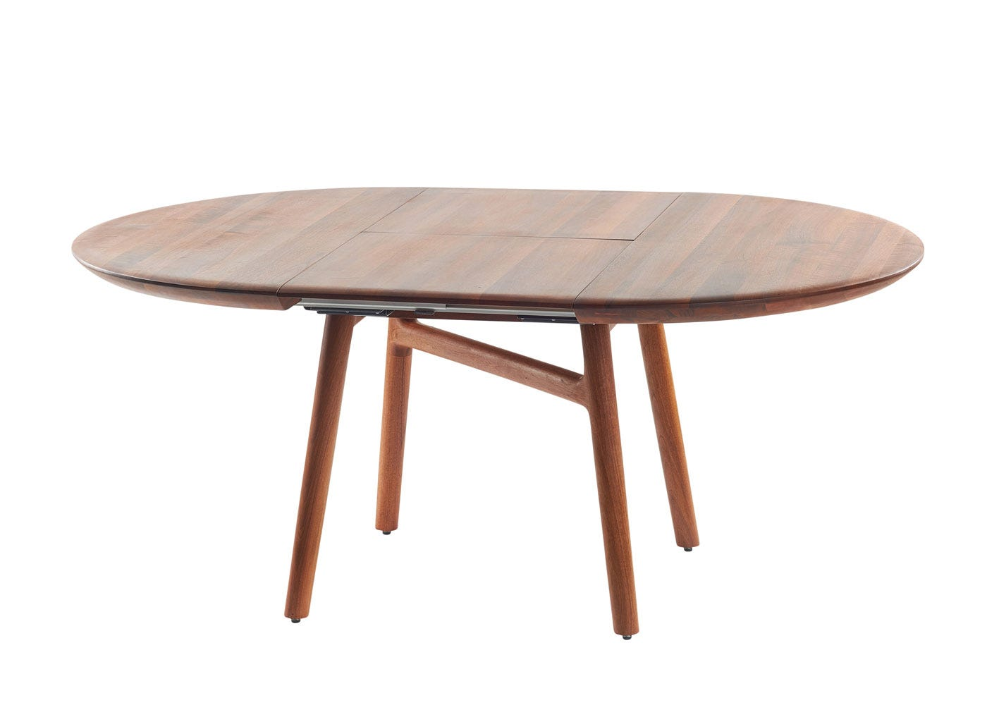 As Shown: Dashing Extending Dining Table Walnut Extended