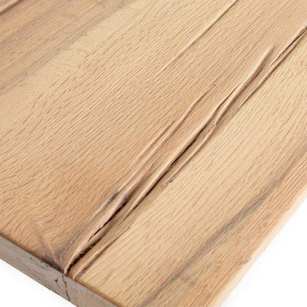 Wild oak table top crafted in Italy and available in seven finishes