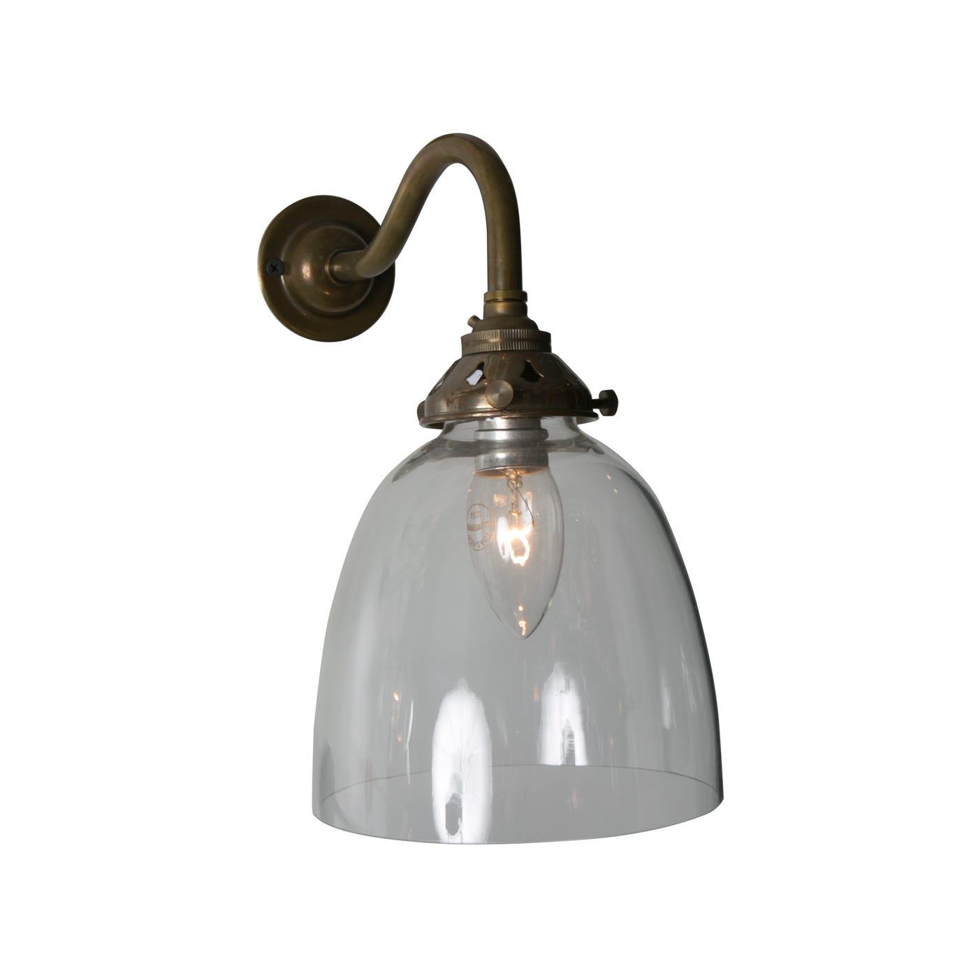 Glass Bell Wall Light