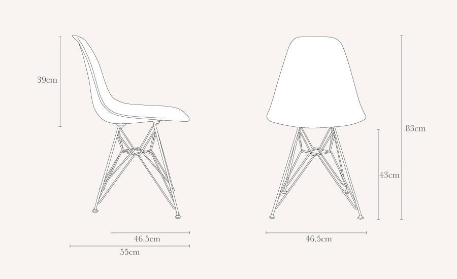 Vitra Eames DSR Chair New Height Black Chrome Legs | HEAL\'S