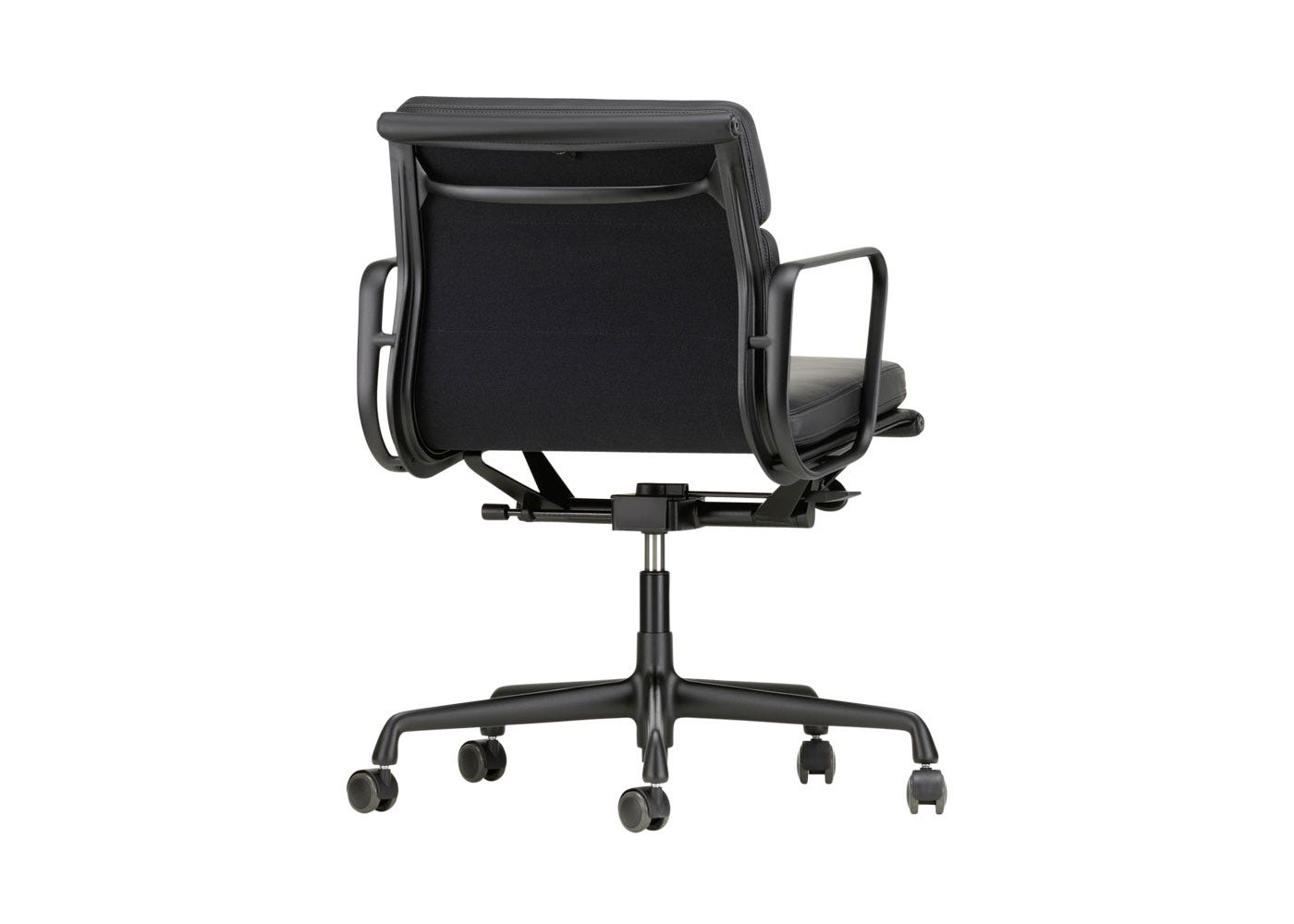 As Shown: Eames EA217 Soft Pad Chair Medium High Backrest Angled Back Profile