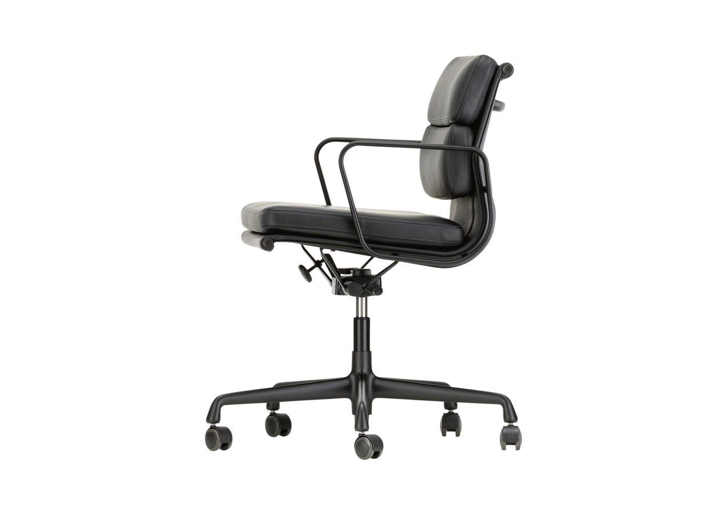 As Shown: Eames EA217 Soft Pad Chair Medium High Backrest Side Profile