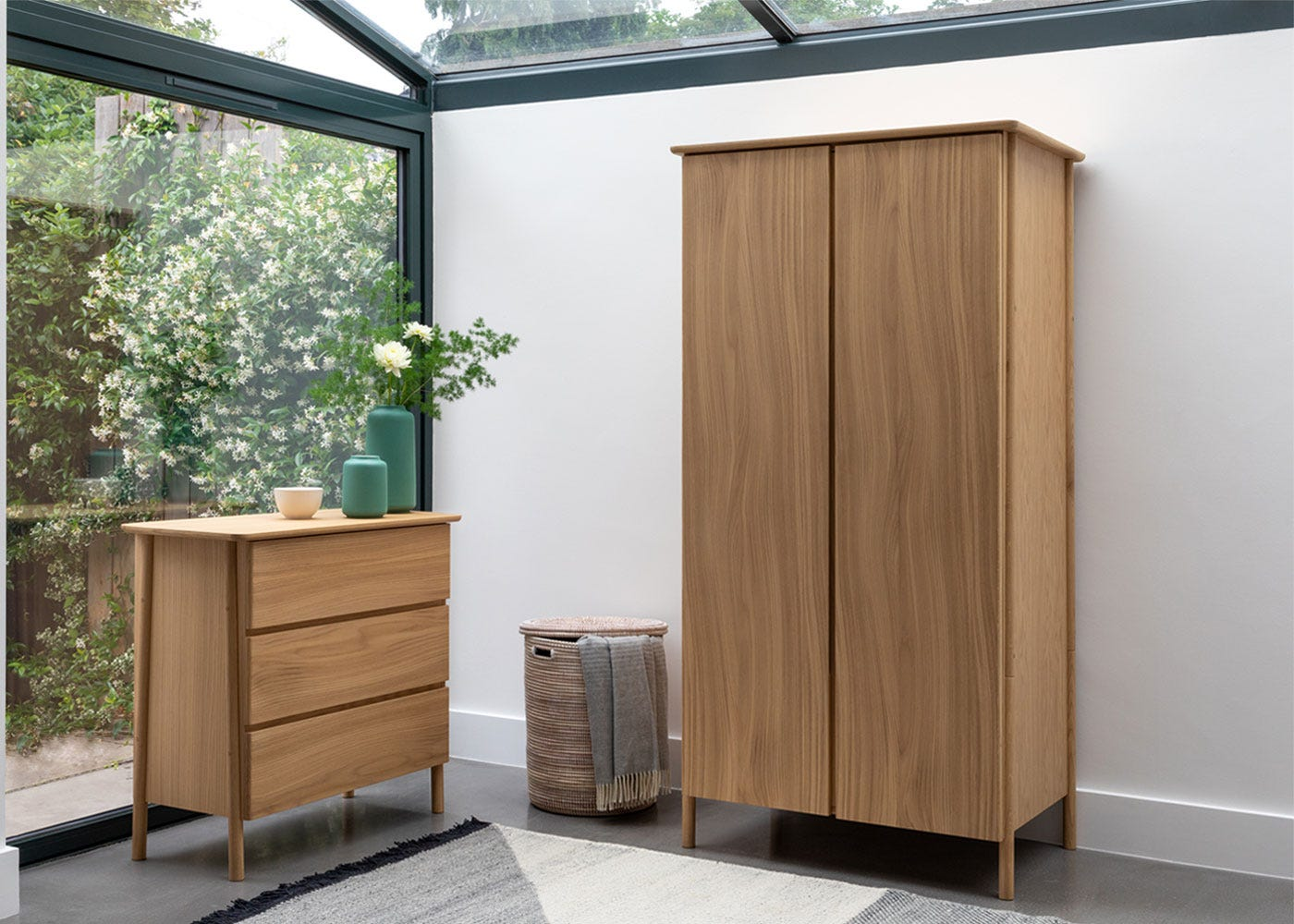 As shown: Eden chest and wardrobe.
