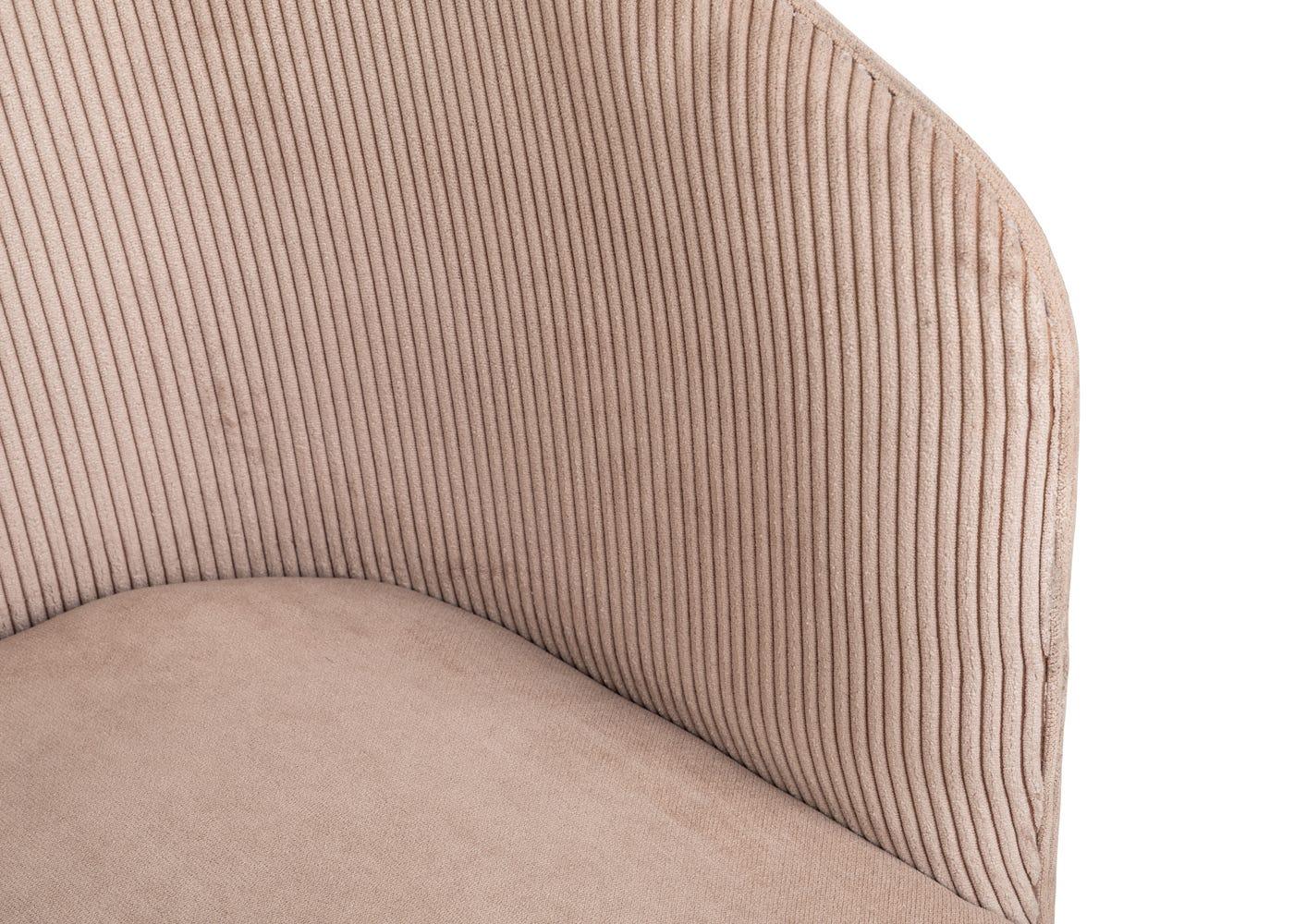 Curved backrest.