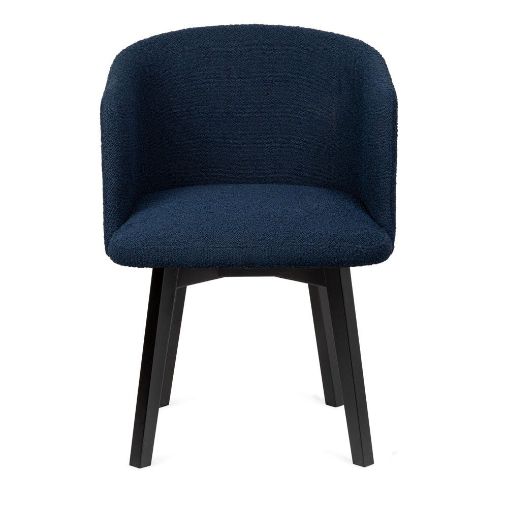 Edit Swivel Office Chair Copenhagen Blue Black Stain Leg