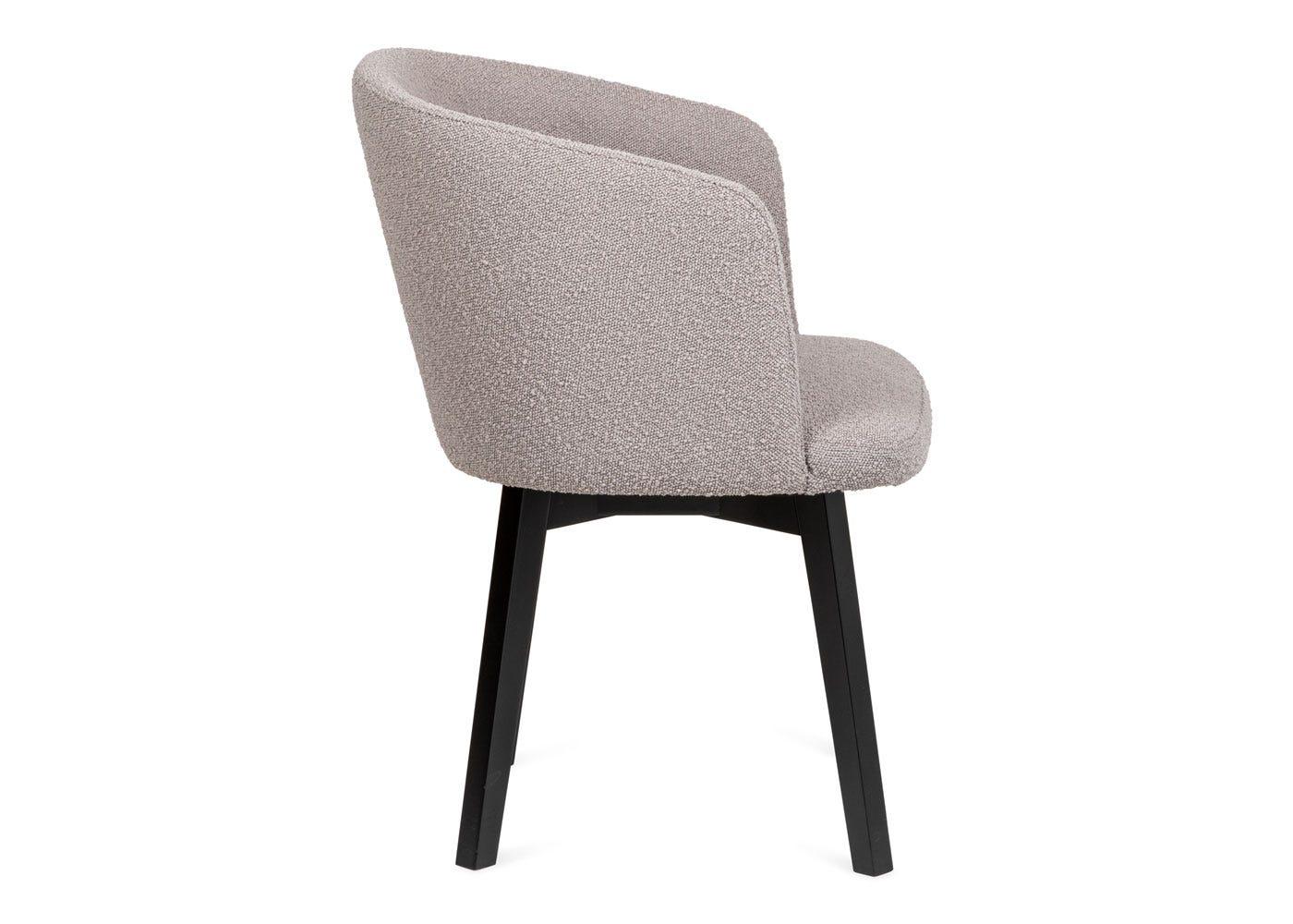 As shown: Edit swivel office chair copenhagen grey black stain leg - Side profile.