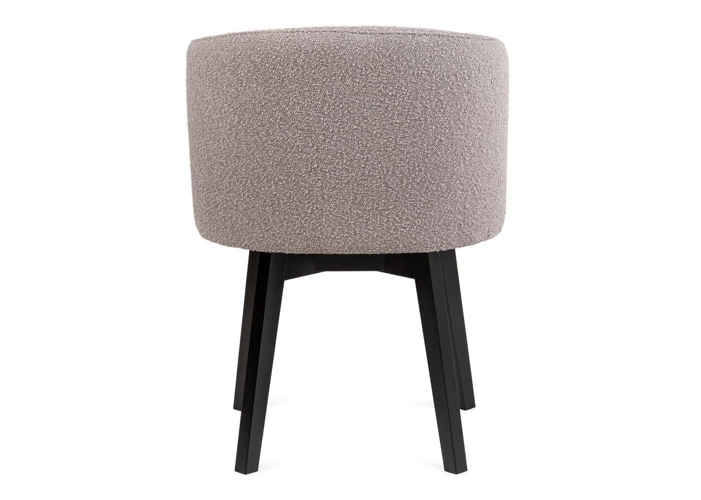 As shown: Edit swivel office chair copenhagen grey black stain leg - Rear profile.