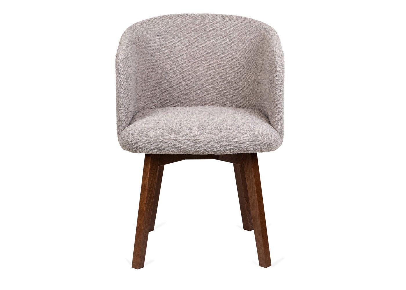 As shown: Edit swivel office chair copenhagen blue walnut stain leg - Front profile