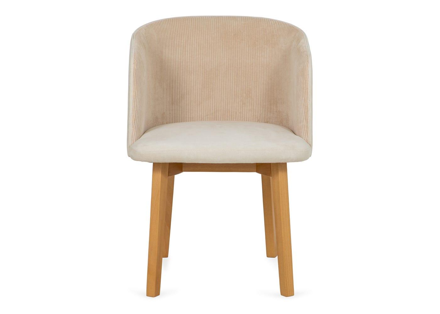 Edit chair cord cream oak stain leg - Front profile.