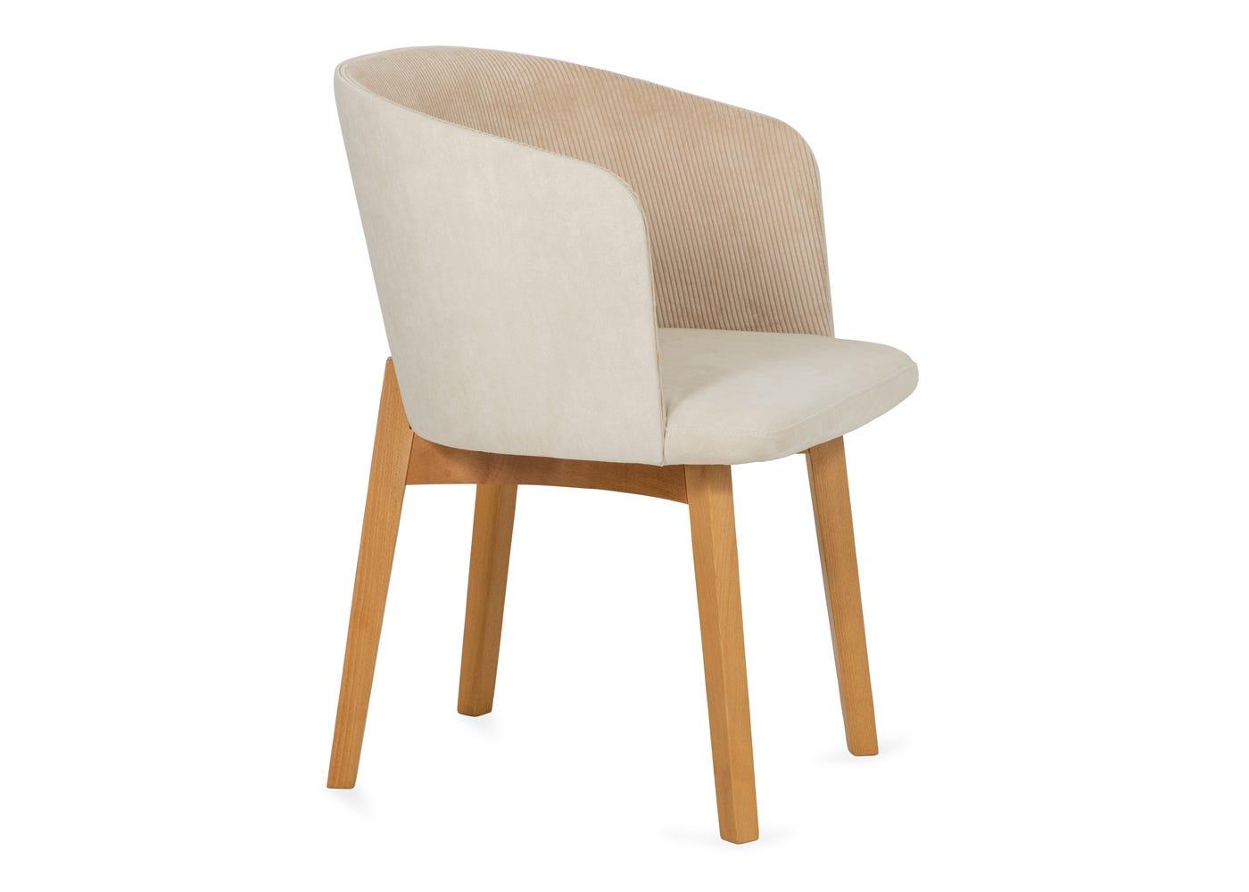 Edit chair cord cream oak stain leg - Side profile.