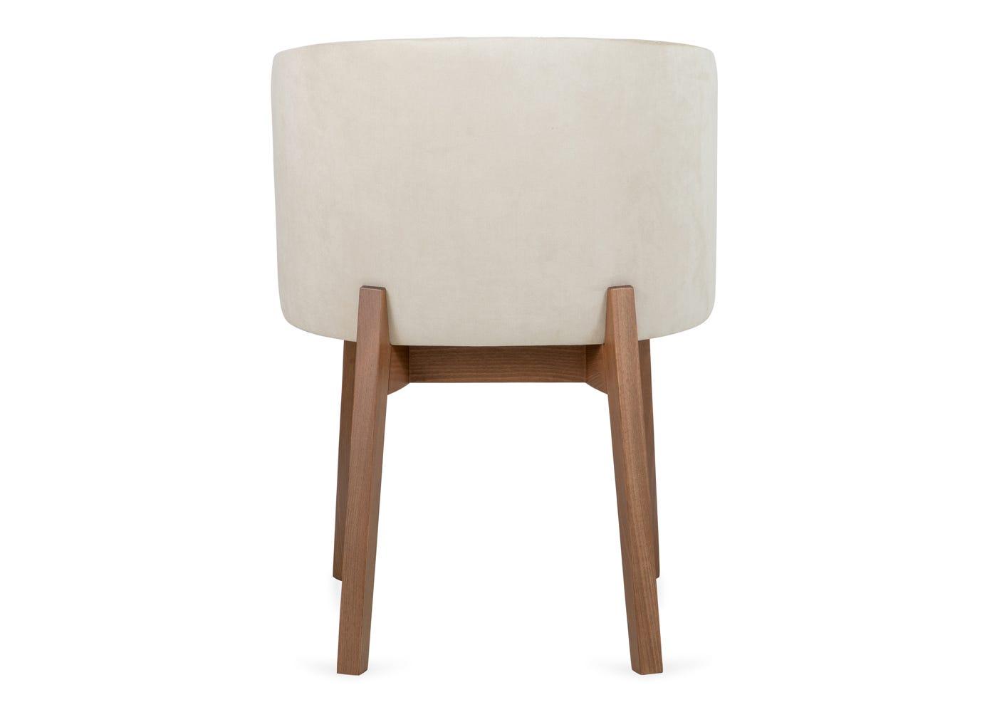 Edit chair cord cream walnut stain leg - Rear profile.