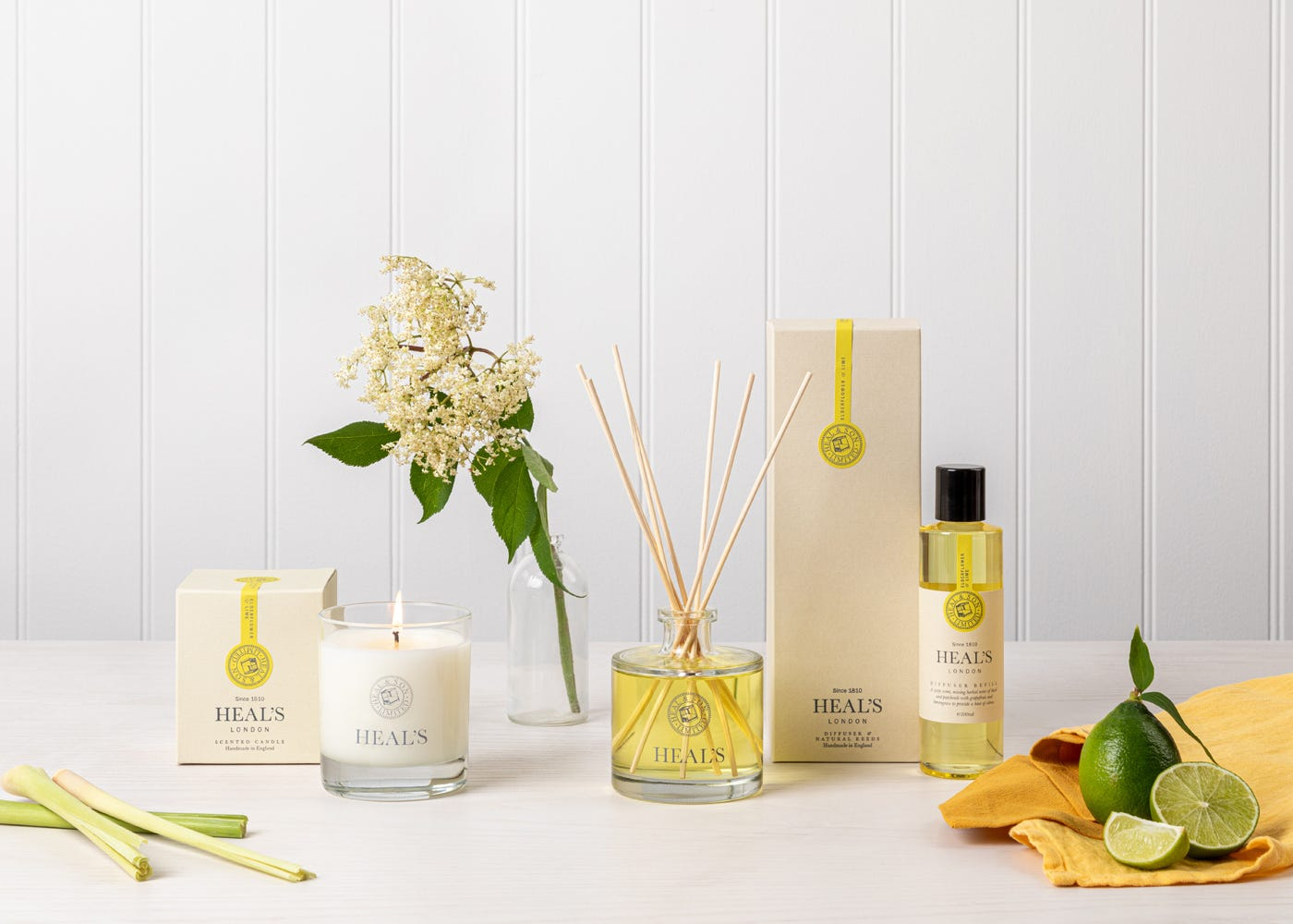 Elderflower and Lime fragrance collection