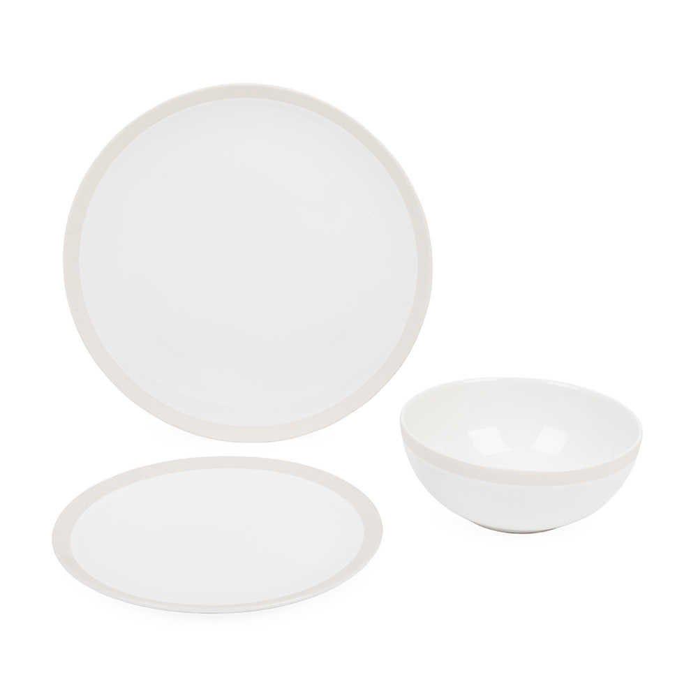 Elements Bone Dinnerware Box Set of 12