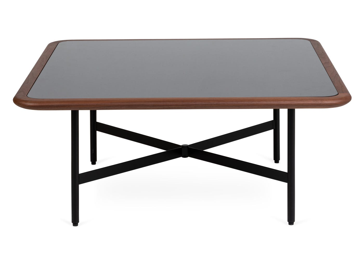 As shown: Emerson square coffee table - Front profile.