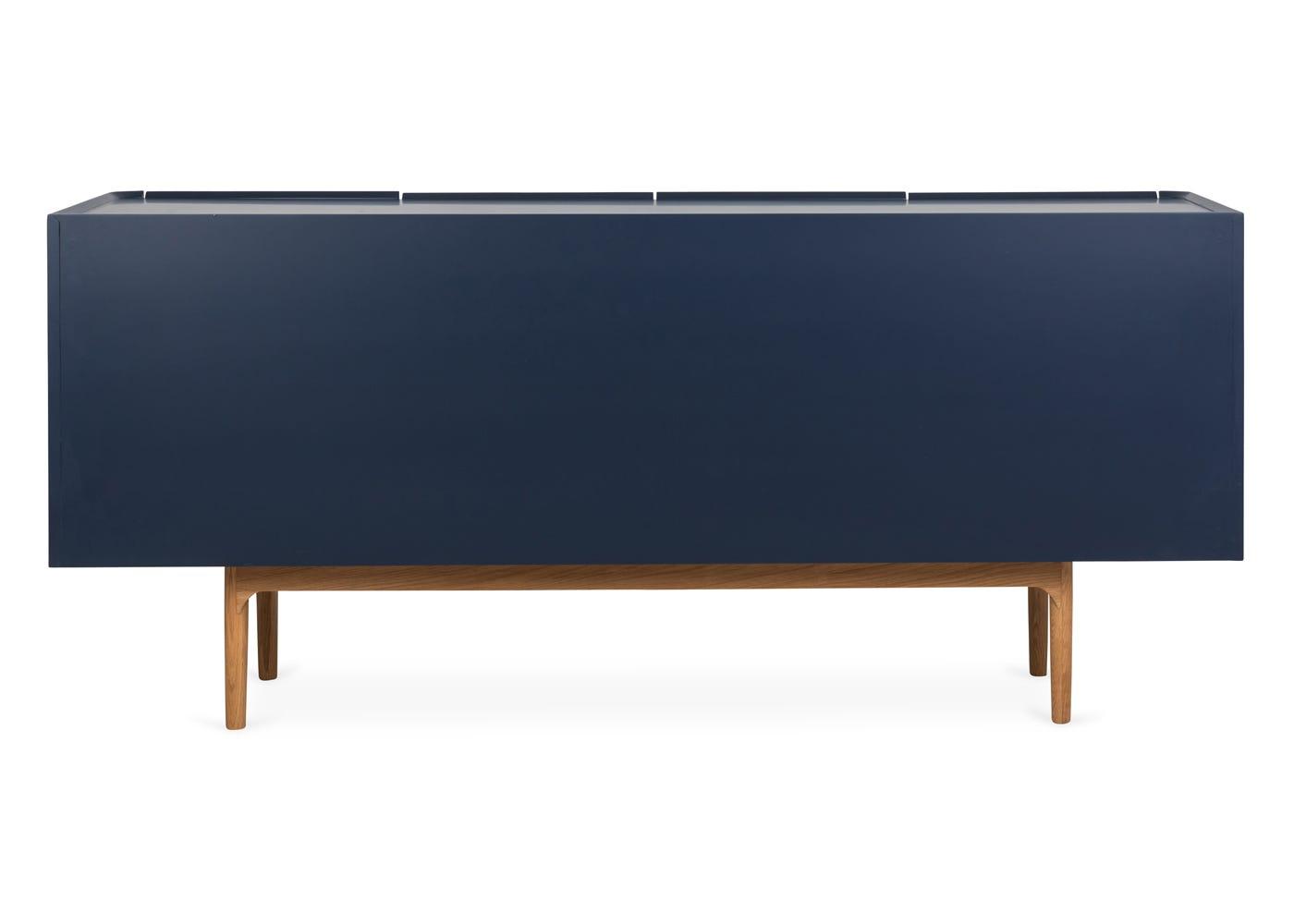 As shown: Emilie oak sideboard in blue - Rear.