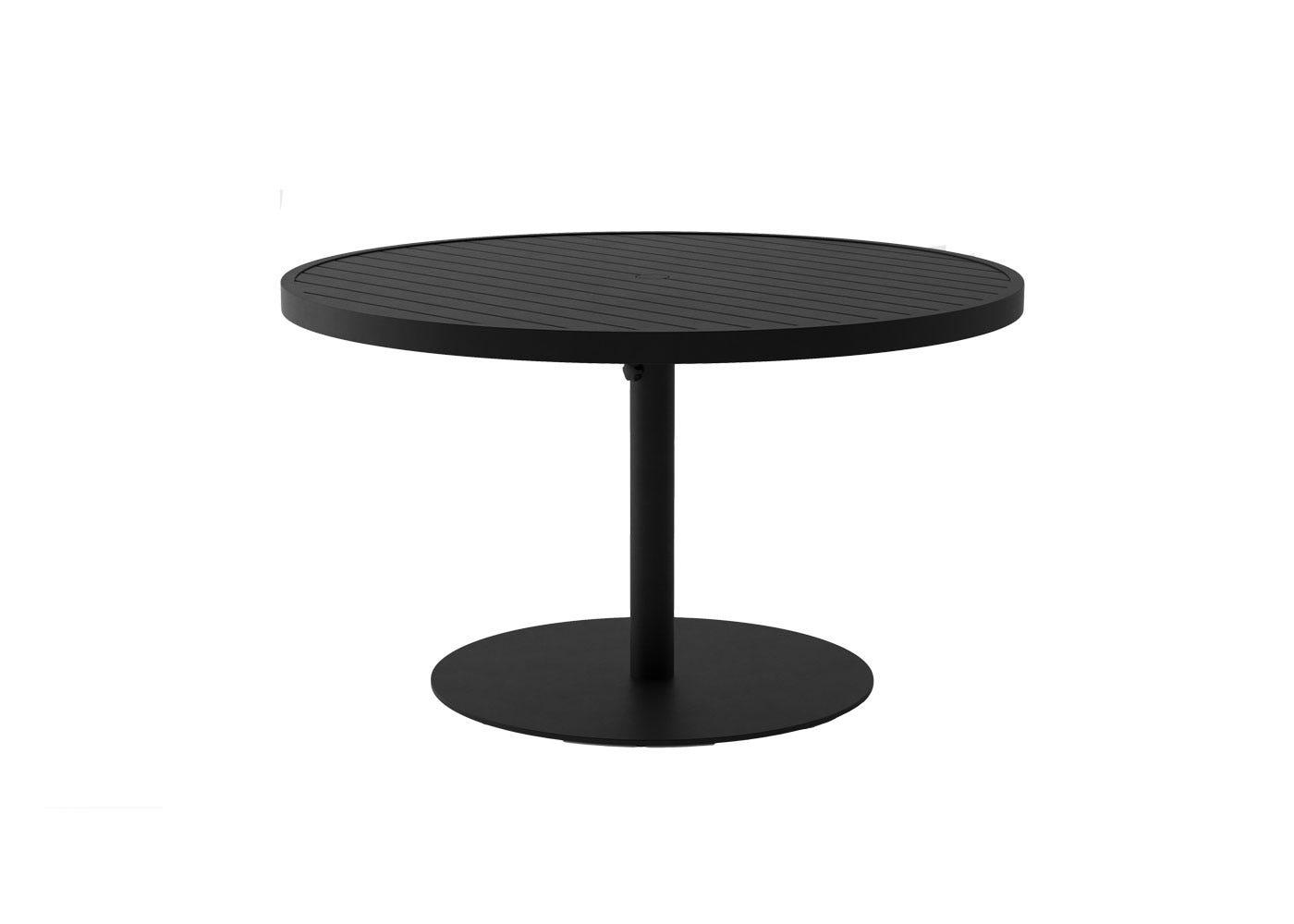EOS Circular Outdoor Dining Table - Black