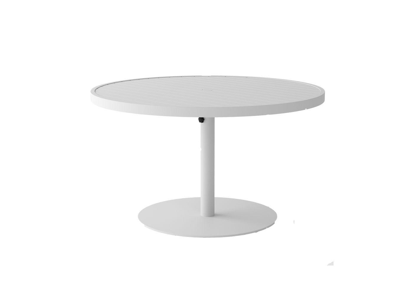 EOS Circular Outdoor Dining Table - White