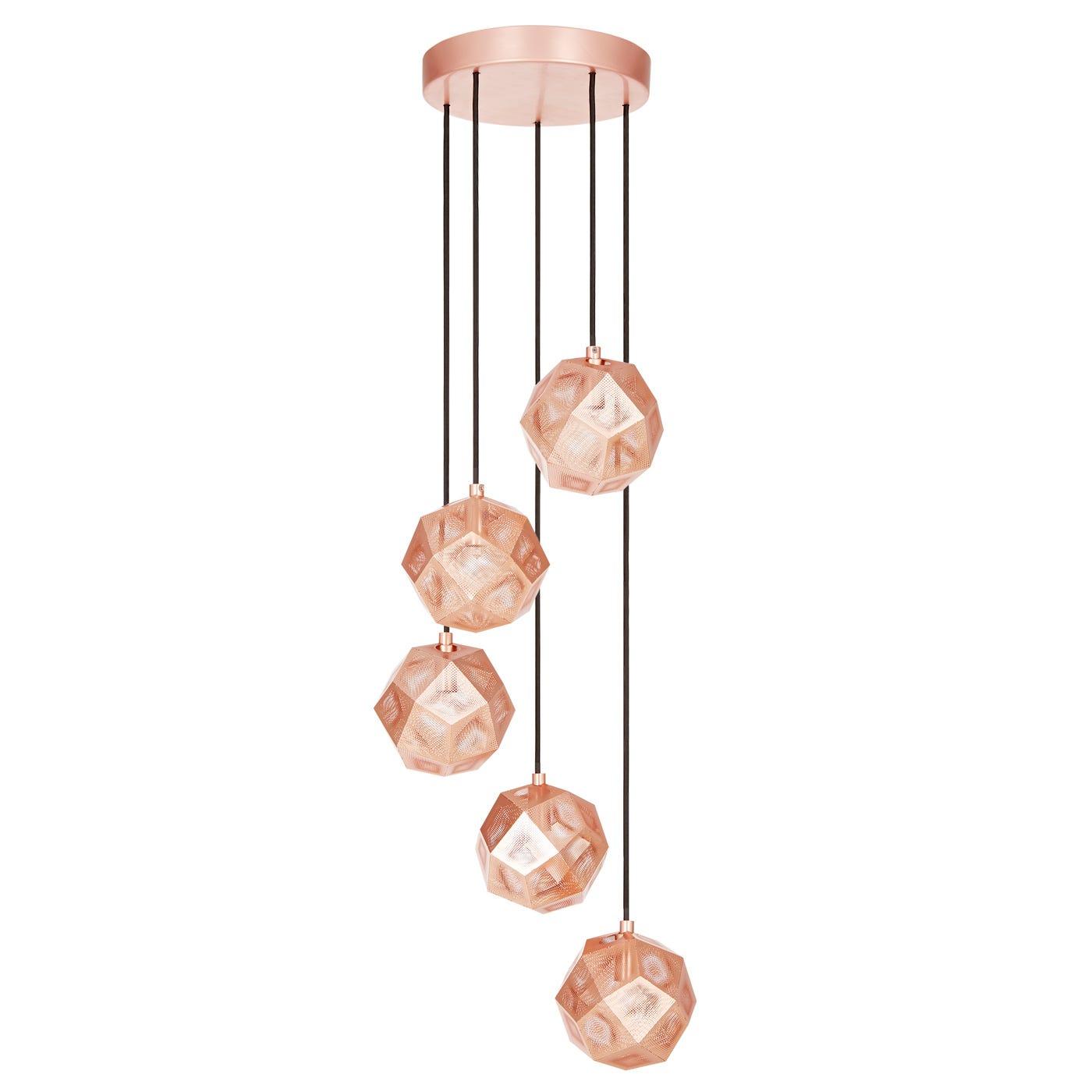 Etch mini chandelier copper aloadofball Gallery