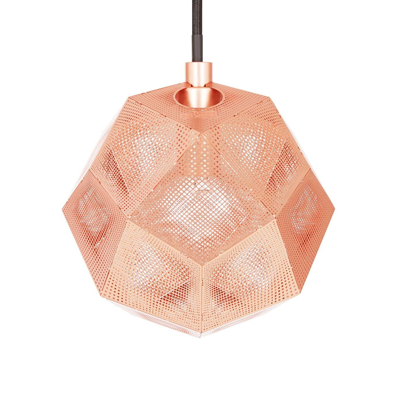 Etch Mini Pendant Light Copper