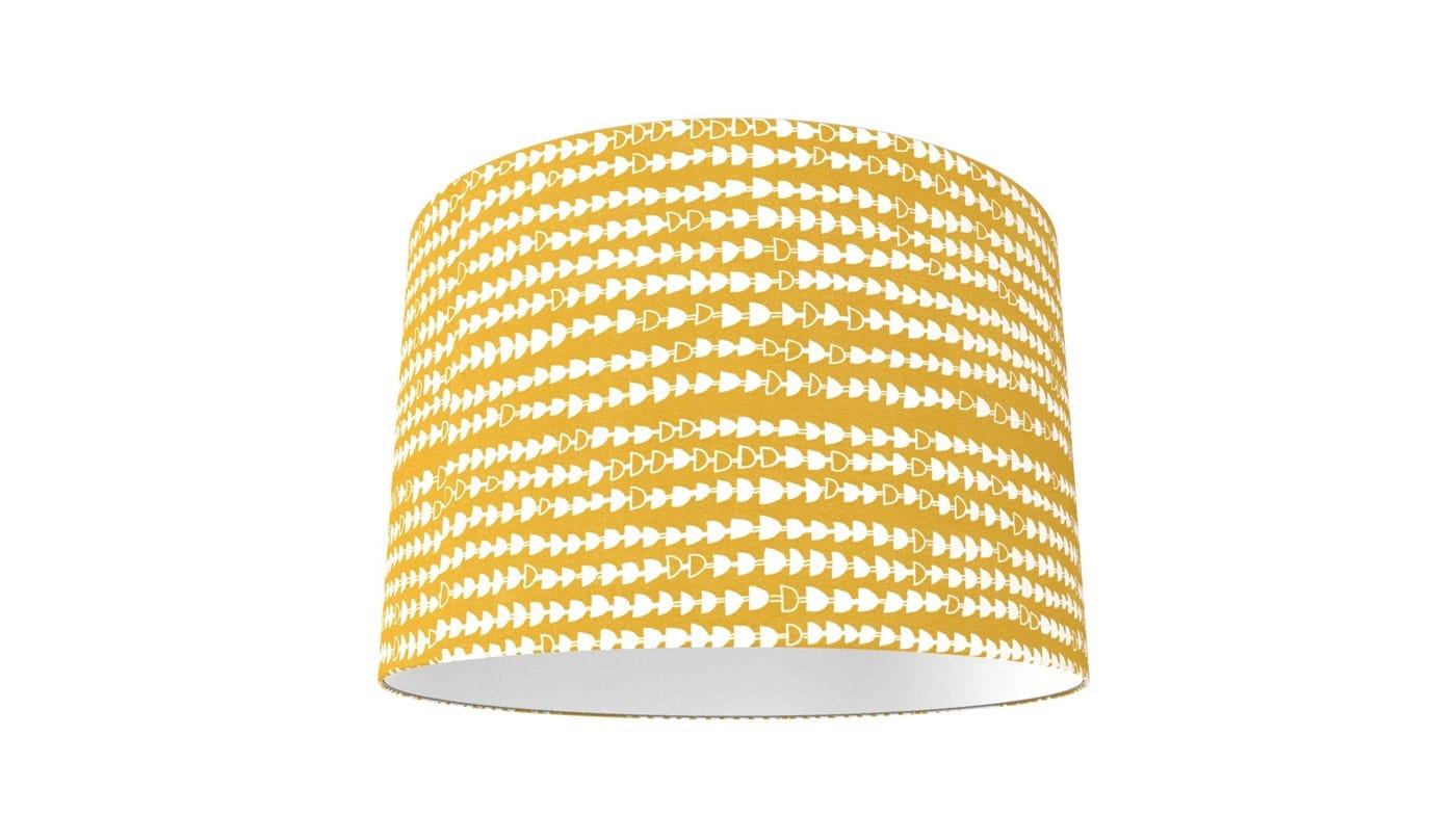 Hopi Shade Mustard Yellow - Patterned Shades - Lamp Shades - Lighting