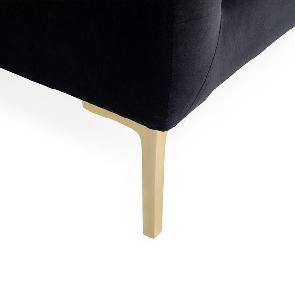 The slightly tapered legs add to the exquisite detail, available in brass or black