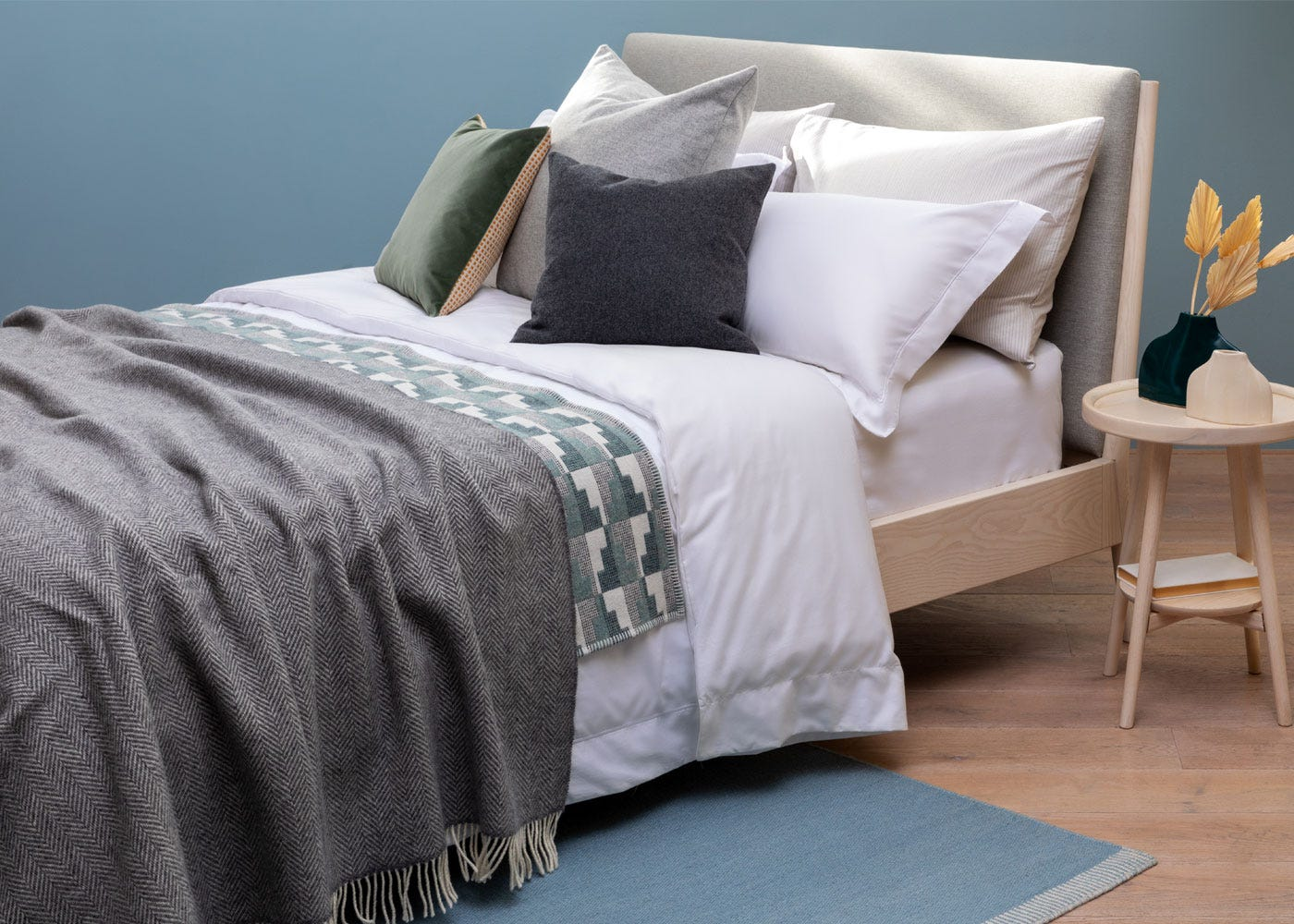 Double bed linen with the Oxford pillowcases
